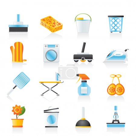 Illustration for Household objects and tools icons - vector icon set - Royalty Free Image