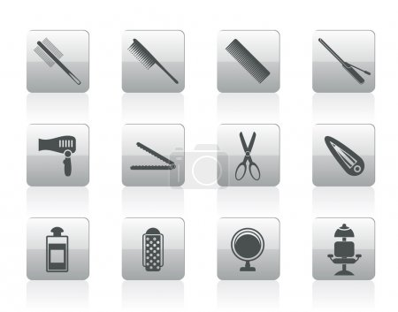 Hairdressing, coiffure and make-up icons