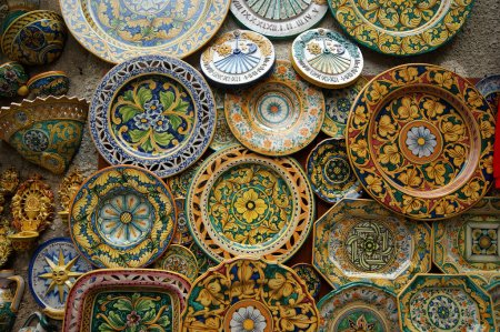Symbol of the island of Sicily, Italy. Traditional souvenirs