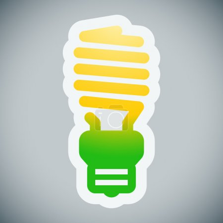 Energy saving lamp illustration