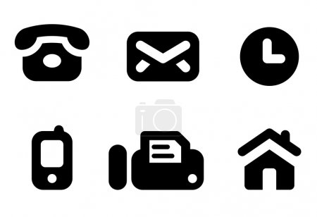 Contact info icons
