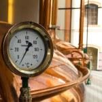 Temperature Gauge. Old style of brewing beer. Nineteenth Century.
