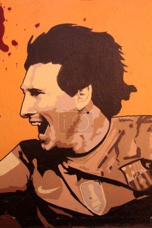Graffiti in honor Lionel Messi