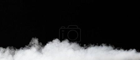 Fog isolated on black