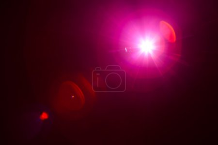 Purple light with lens flare