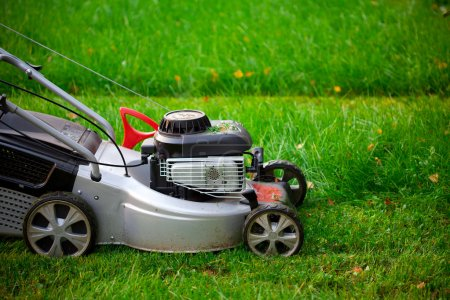 Lawn mower closeup