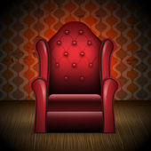 Illustration of vintage armchair in room