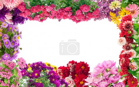 fantastische Blumenumrahmung