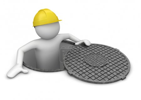 Business collection - Worker in hatch