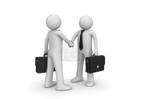 Handshaking two businessmen