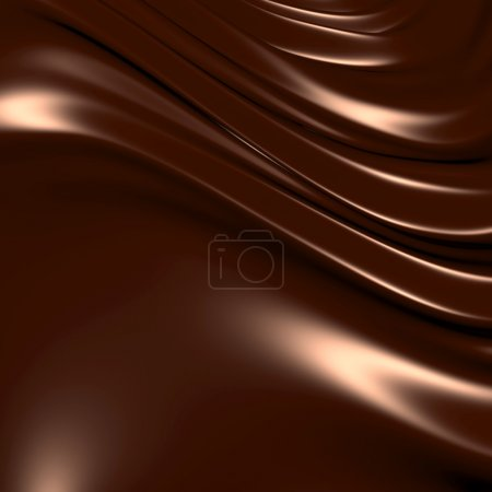 Photo for Abstract chocolate background (3d remarkable abstract backgrounds and objects series) - Royalty Free Image