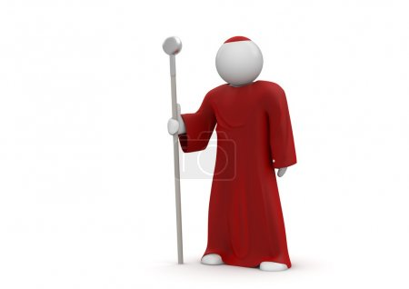 Cardinal - Pope. Isolated. One of a 1000 plus 3d characters series