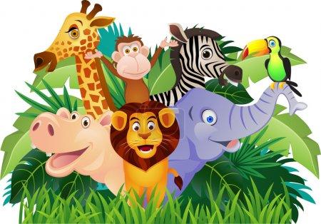 Illustration for Vector illustration of animal cartoon - Royalty Free Image