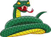 Vector Illustration Of Angry Snake