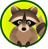 Vector Illustration Of Raccoon Cartoon