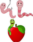 Vector Illustration Of Cartoon Character Worm