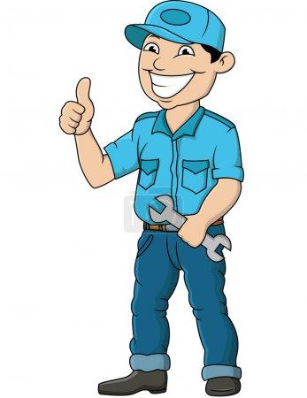 Illustration pour Illustration vectorielle de l'homme mécanicien - image libre de droit