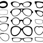 Set of different eyeglasses...