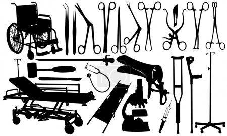 Illustration for Set of different medical tools isolated - Royalty Free Image