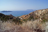 Pohled na pobřeží ostrova zakynthos
