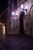 Street in Milano at night