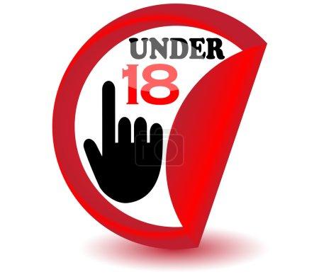 Under eighteen sign.Vector