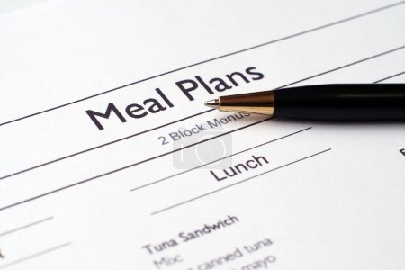 Photo for Meal plan - Royalty Free Image
