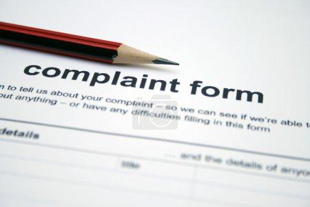 Photo pour Formulaire de plainte - image libre de droit