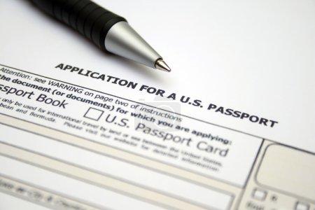Photo pour Application pour nous passeport - image libre de droit