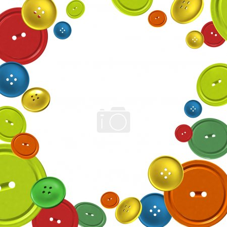 Background with colorful sewing buttons