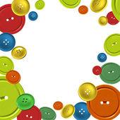 fond avec des boutons de couture colorée