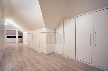 Photo for Interior of a simple and large wardrobe. - Royalty Free Image