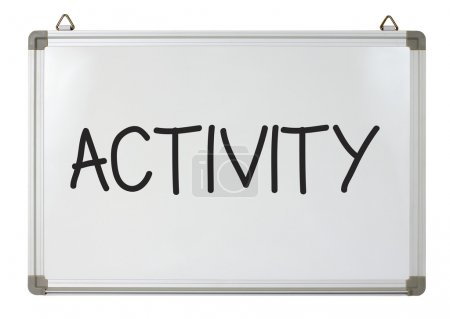 Photo for Activity word written on whiteboard - Royalty Free Image