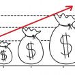 Hand drawing profit graph...