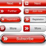 Forward red design elements for website or app. Ve...