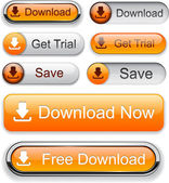 Download web orange buttons for website or app Vector eps10