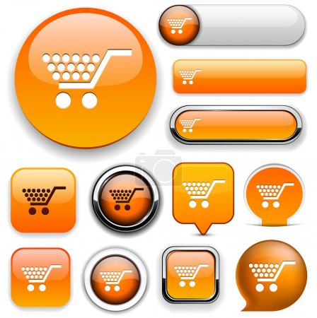 Illustration for Buy orange design elements for website or app. Vector eps10. - Royalty Free Image