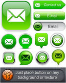 E-Mail high-detailed web button collection