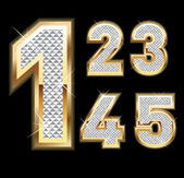 Set of Diamond and gold numbers 1-5