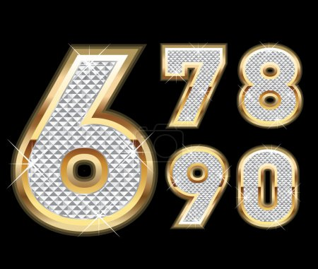 Set of Diamond and gold numbers 6-0