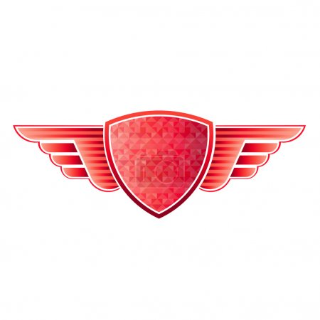 Red shield wings