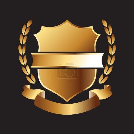 Illustration pour Badge Sceau d'or - image libre de droit