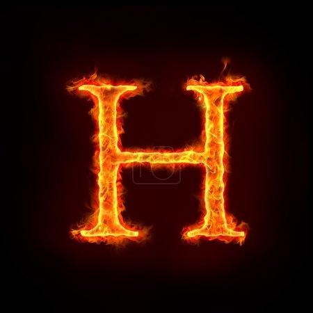 Feuer-Alphabete, h