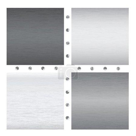 vector metal textures with screws