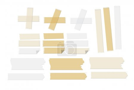Masking tape vector illustrations