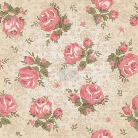 Photo for Vintage seamless floral pattern - Royalty Free Image