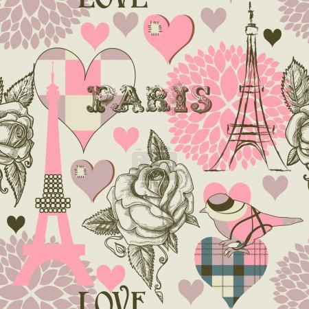 Photo pour Paris motif sans couture - image libre de droit