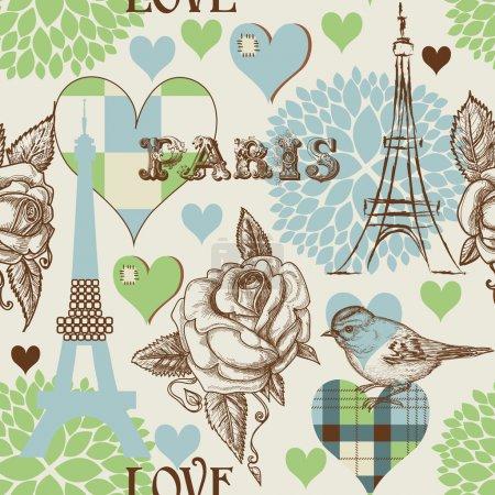 Illustration for Paris seamless pattern - Royalty Free Image