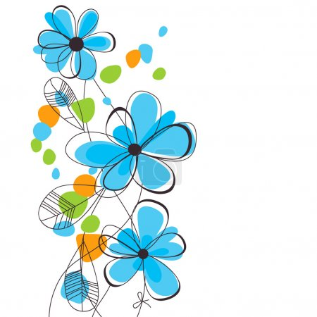 Illustration for Spring flowers background - Royalty Free Image