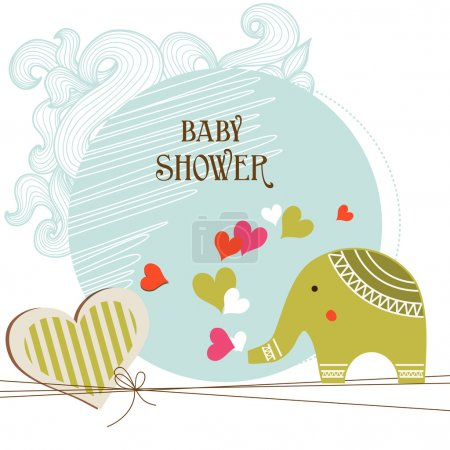 Illustration for Baby shower card template - Royalty Free Image
